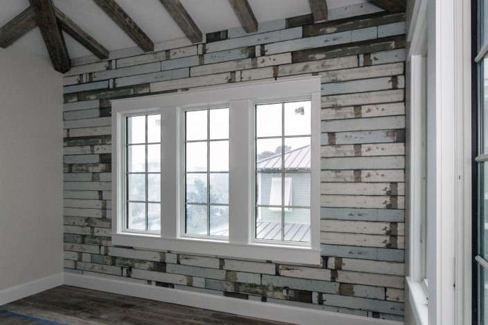 Beachhouse Flooring Accent Wall