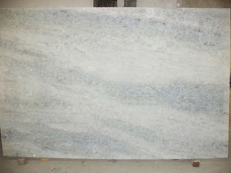 Crystalline Stone Slabs : White collection ice gems emerald coast fabrication