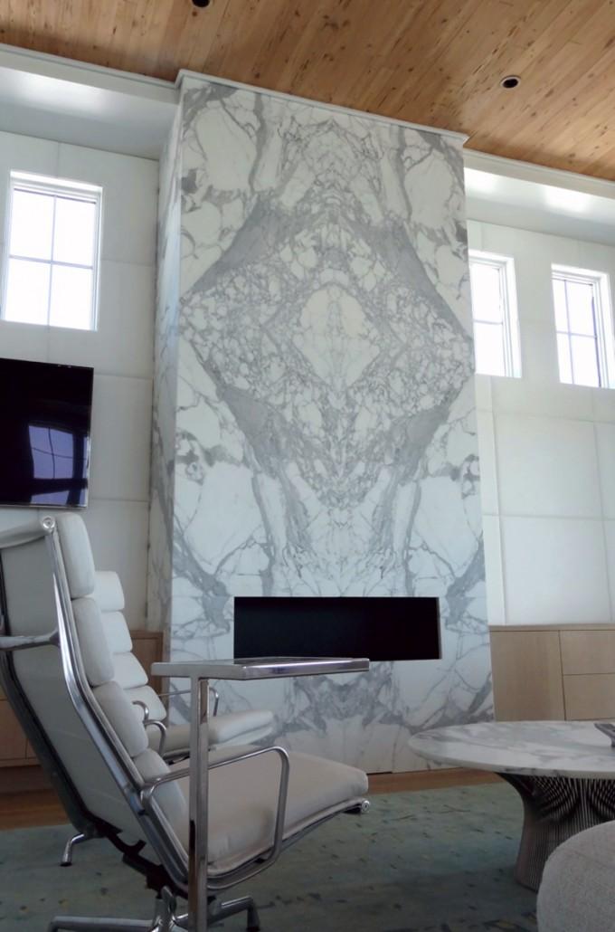 Calacatta Gold Marble Fireplace Emerald Coast Fabrication